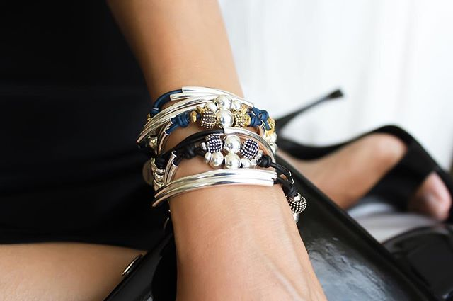 The  London  and  Paris  wrap bracelets pair quite perfectly together.