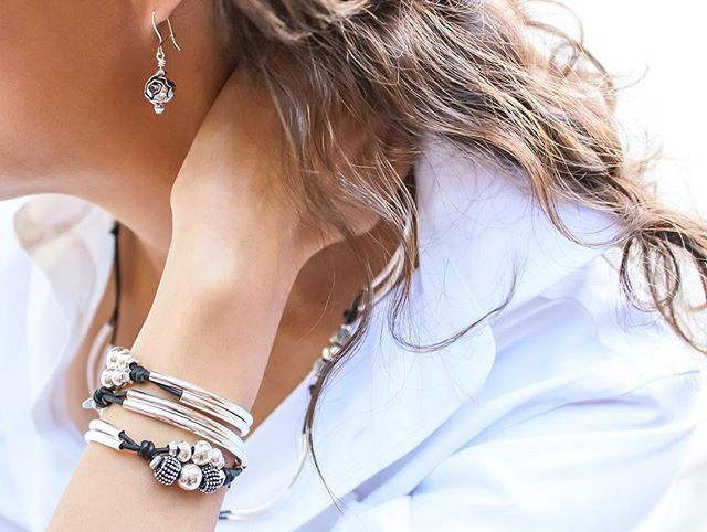 The  London  wrap bracelet can also be worn as necklace too. Pairs nicely with  Blossom Earrings .