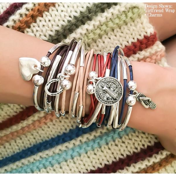 Layered  Girlfriend wrap- add your charm choice  to show off the many layers of you.