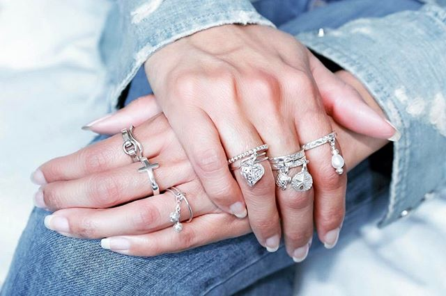 The  Sterling Silver Ring Collection  features several sterling silver rings that all stack gorgeously together.