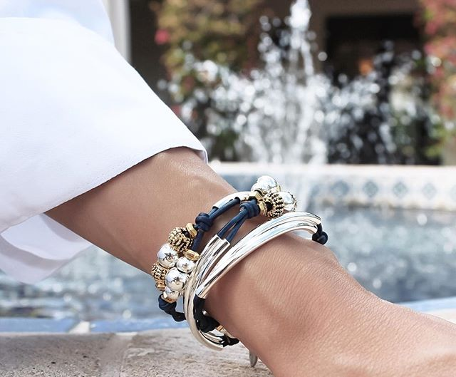 Enjoying relaxing and soothing water sounds with the  Paris wrap bracelet .