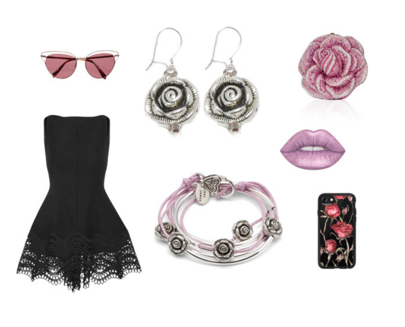The  Rose Earrings  are fun, flirty, and stylish. See the whole set  here .