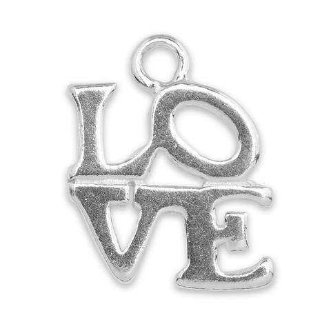 The  Sterling Silver LOVE  charm. A beautiful way to add some love to your favorite wrap bracelet.
