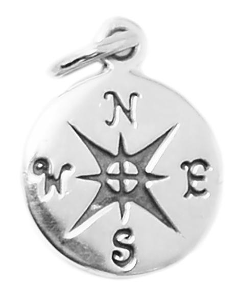 Find your direction with the  Sterling Silver Compass Charm .