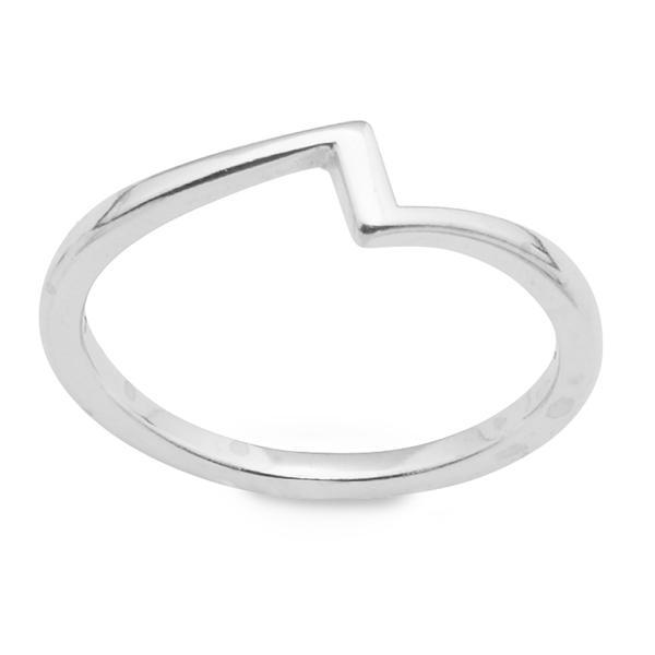 The elegant  Lightning Sterling Silver Ring .