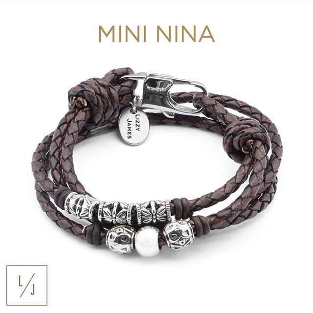 Mini Nina  shown in natural mocha leather.