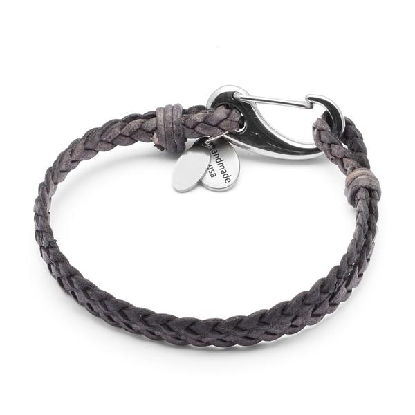 Nick with Stainless Steel Clasp  shown in natural grey, but offered in several other colors too.