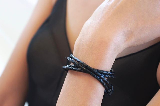 The  Sampson  wrap bracelet looking stylish and sophisticated.