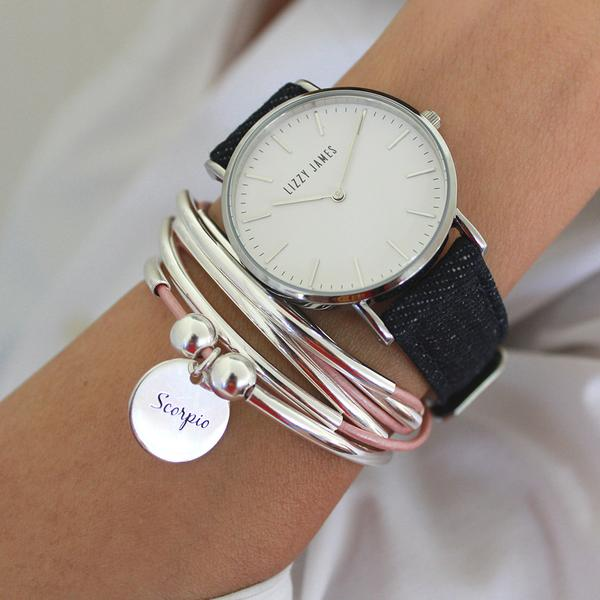 timeless-lizzy-watch-in-dark-denim-stacked-next-to-girlffriend-wrap-bracelet-with-sterling-Scorpio-charm_grande.jpg