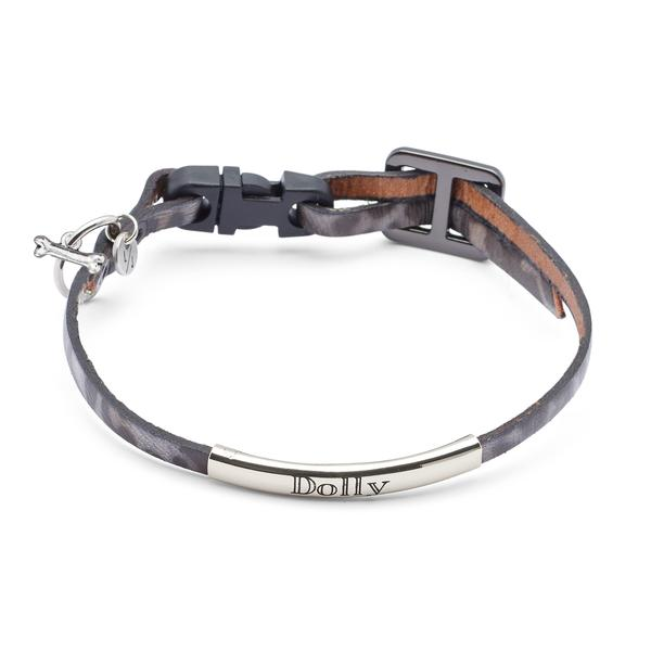 The Dolly Dog Collar in Silver