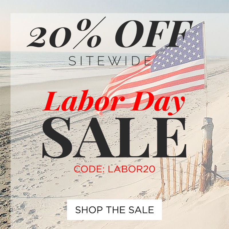 20% Off Labor Day Sale starts now! Use code LABOR20  May not be combined with other promo codes, discounts or offers. 1 use per customer.