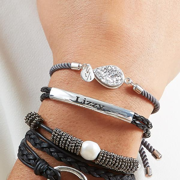 Valentina  stacked with other  Lizzy James Bracelets .