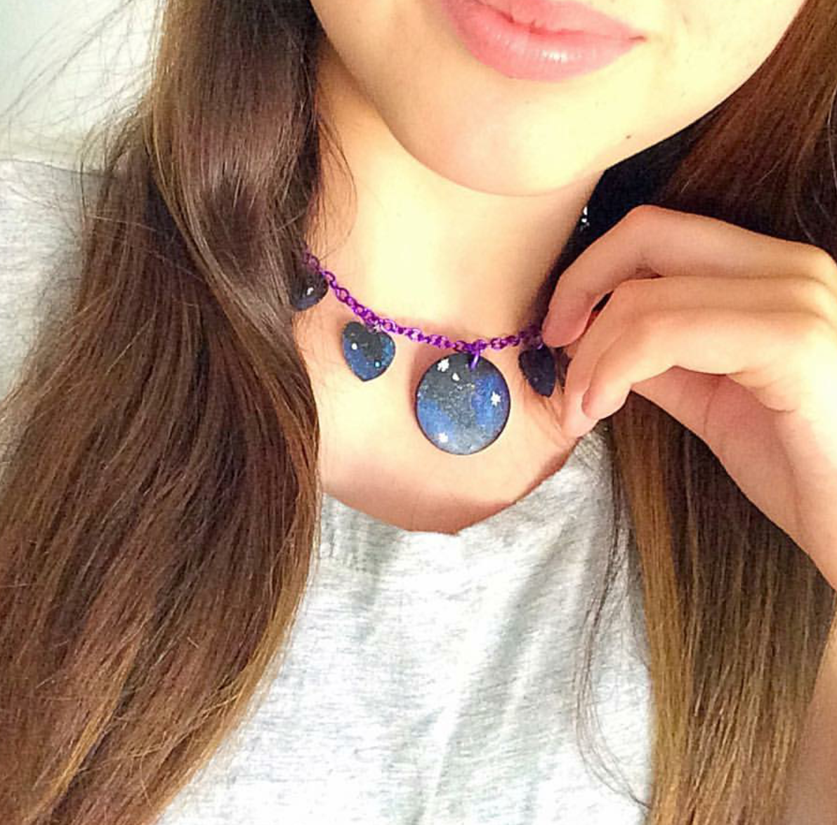 @lexxi.may is out of this world with the Galaxy Love necklace