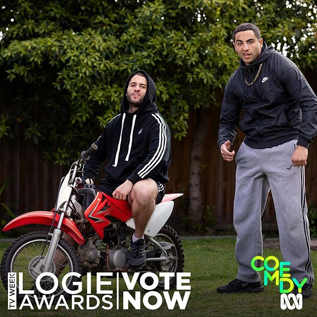 Oi we got nominated for 2 Logies (best comedy and outstanding newcomer), and if you guys vote for us we might actually win. Link in bio!