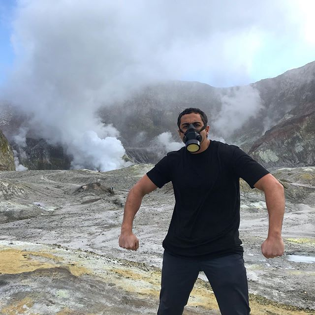 Landed on a volcano today. They say because of the sulphur it's one of the smelliest places on earth. My dad's farts are worse.