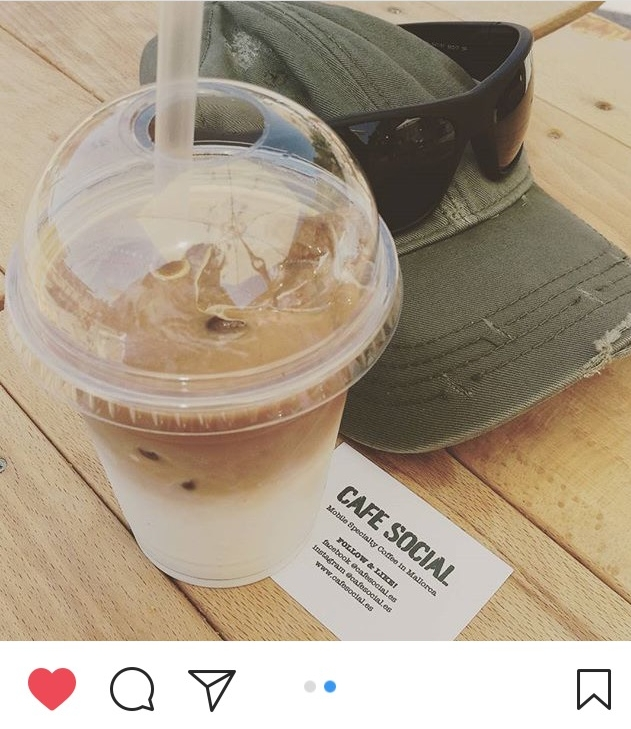 CAFE SOCIAL Iced Latte. Photo by Rachid @gmnemesis at Port Adriano's Street Food Festival 2017
