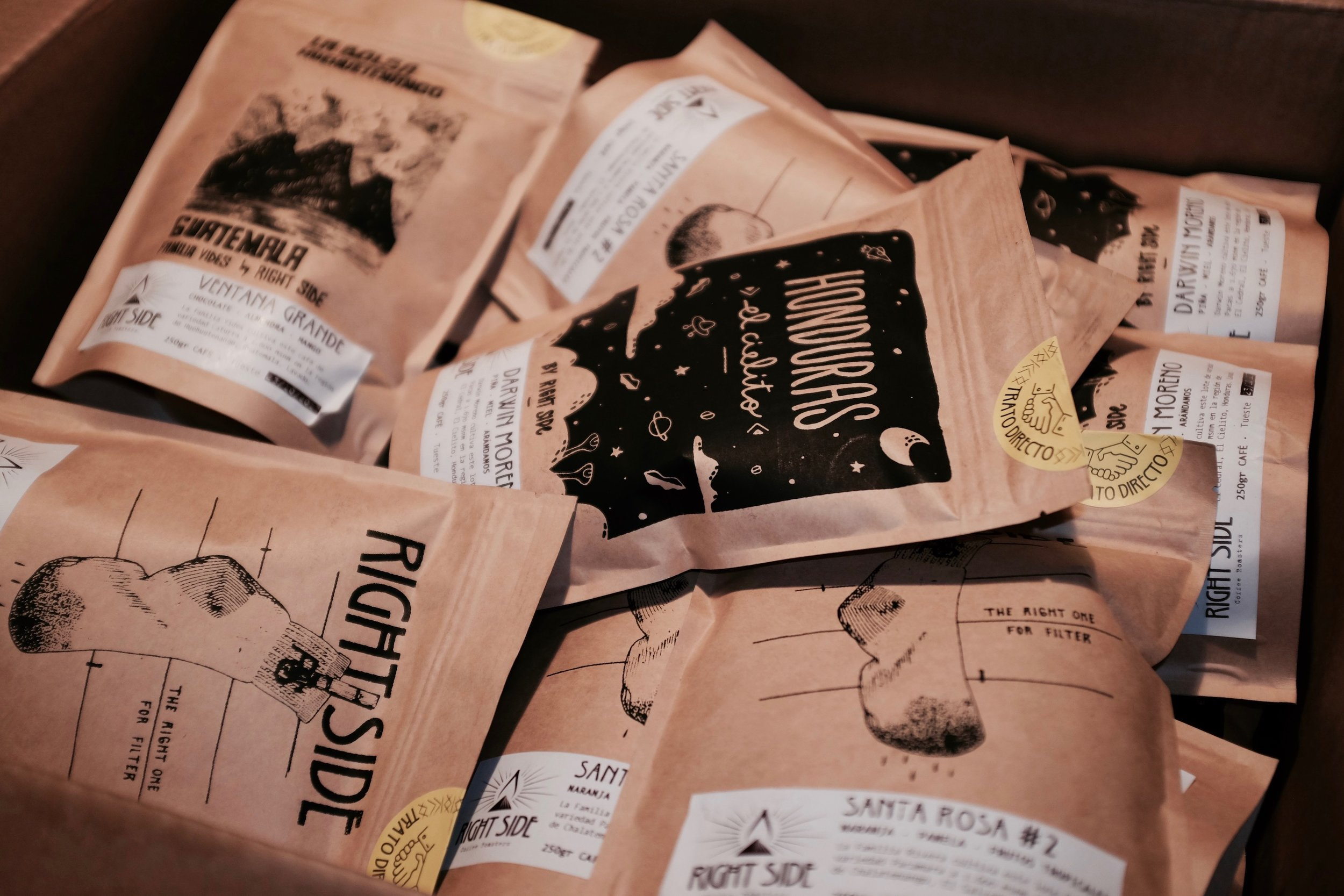 Small batch of Central American coffee by Right Side Coffee Roasters arrived at CAFE SOCIAL Mallorca