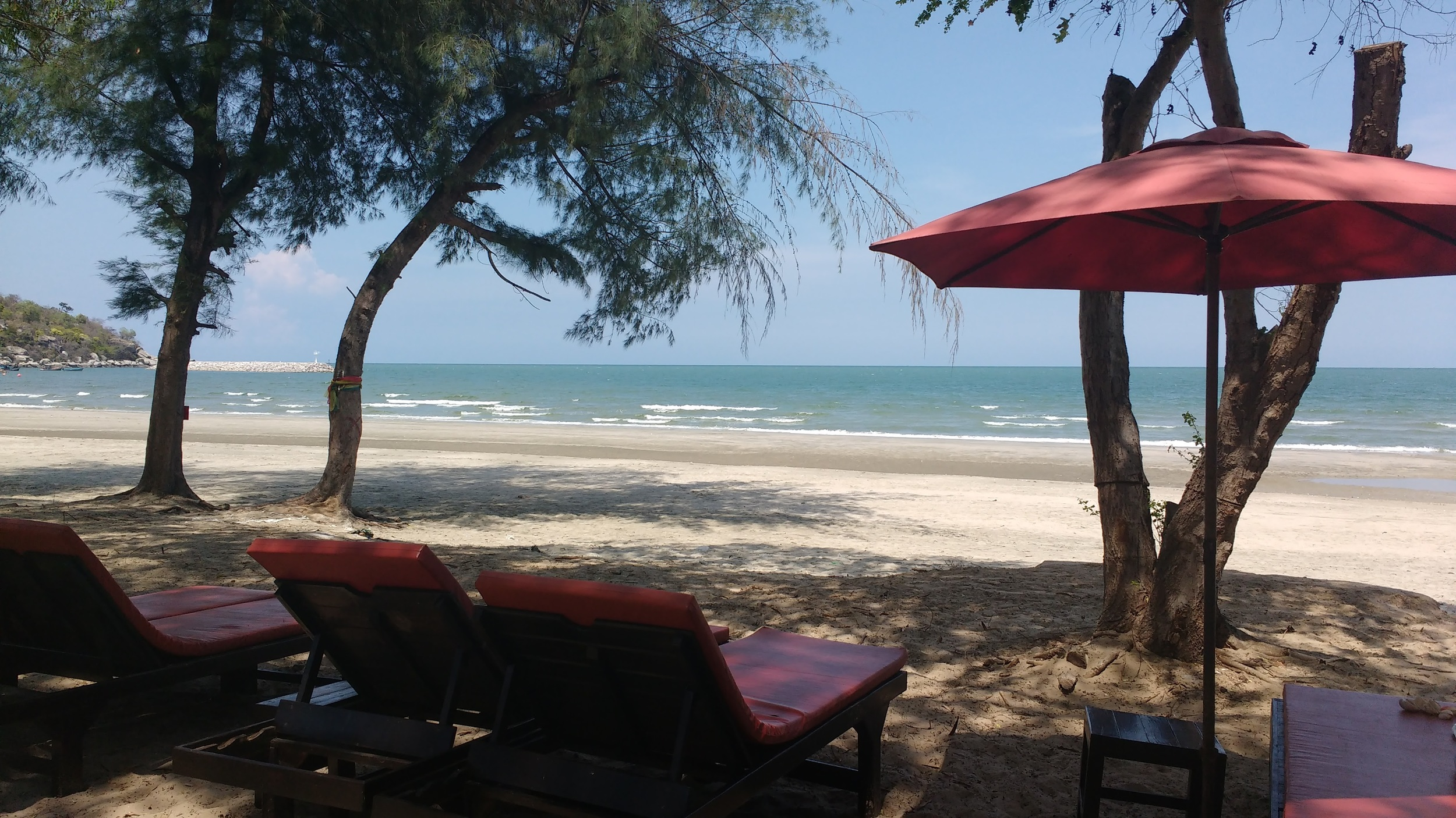 Khao Takieb beach at Riot Cafe. A perfect way to spend a lazy day