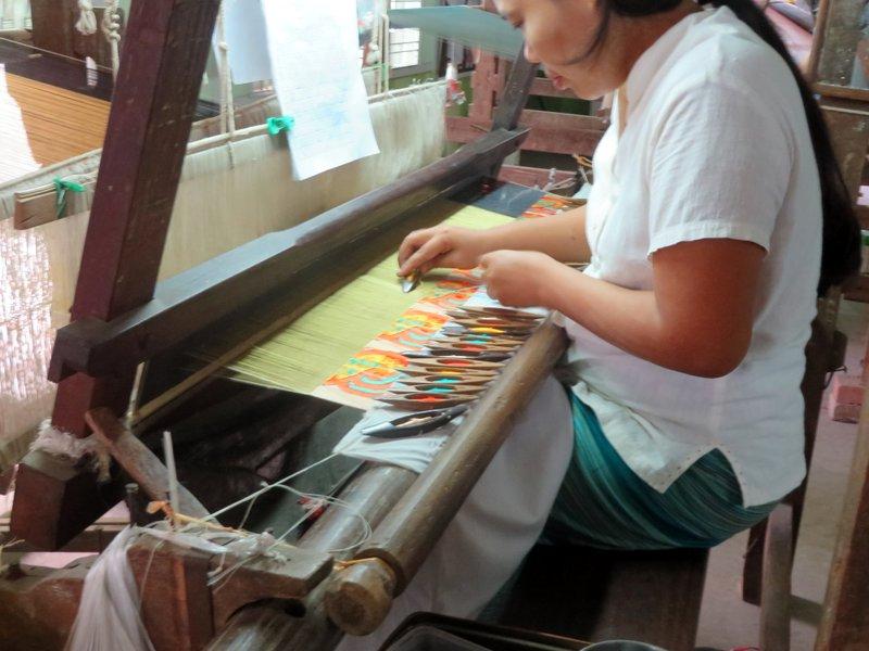 The skilled women making silk