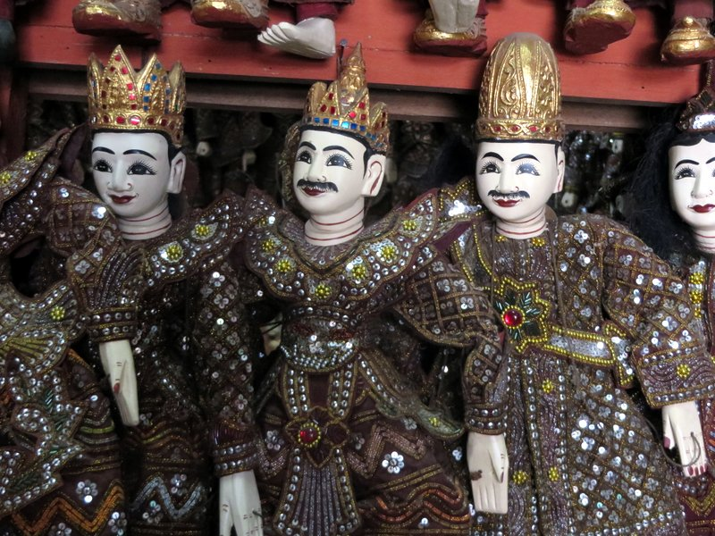 The puppet makers. Imagine being locked in here overnight!