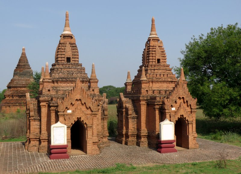 Small temples like this beautiful pair are everywhere. If you use bikes to get around you can find yourself completely alone wandering them.