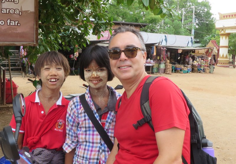 More temple kids. These guys have the traditional thanaka paste on their faces