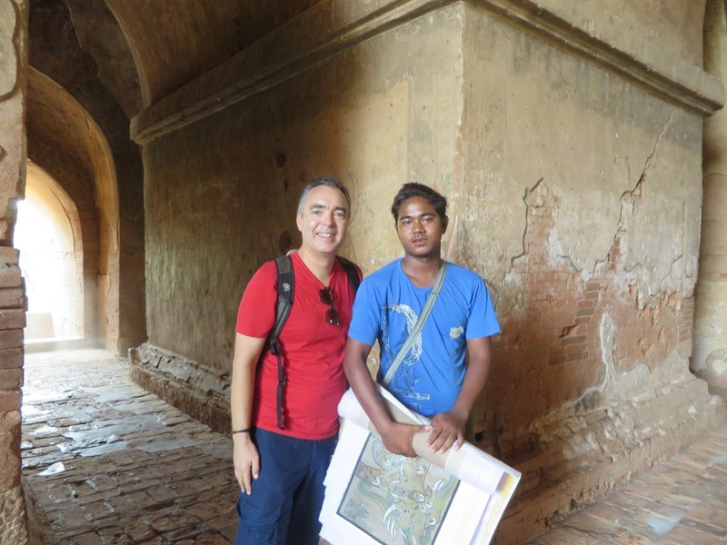This guy showed us around one temple but wouldn't accept any money. He wanted to practice his English.