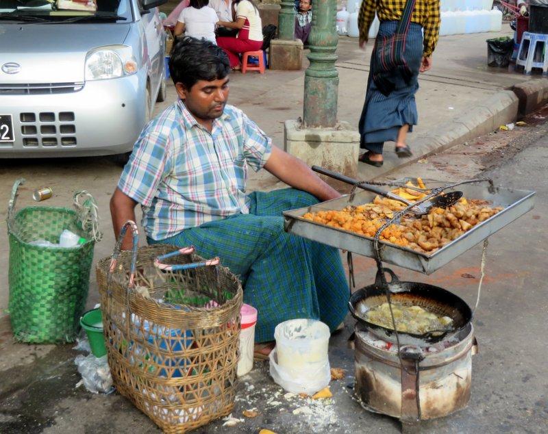 Typical street food vendor
