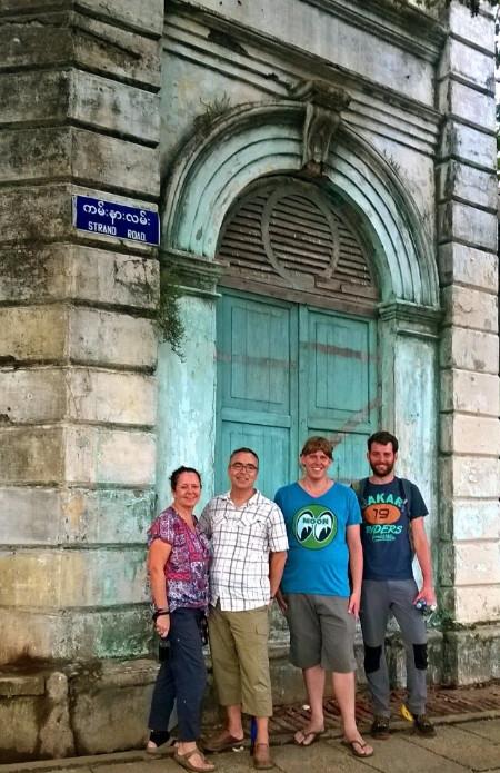 Our small but fun walking tour. Photo Courtesy of Free Yangon Walks
