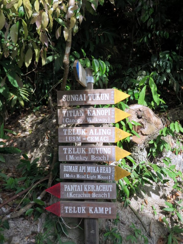 Well signposted trails