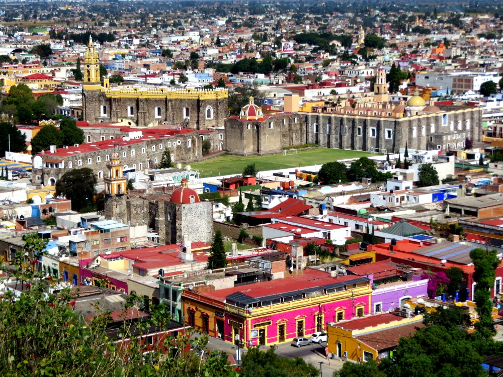 Beautiful Cholula from the top of the pyramid