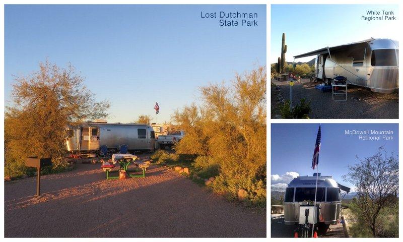 The 3 parks we stayed in around Phoenix