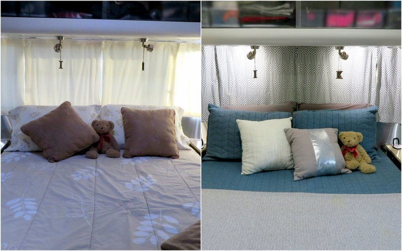 Switch out of the drapes with blackout linings and more modern fabric