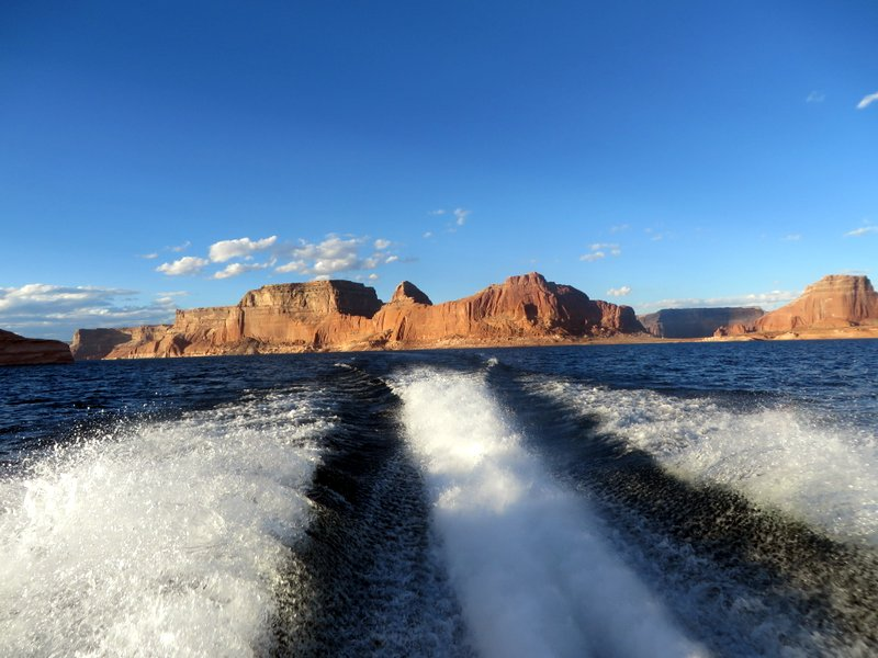 Our fabulous perspective of Lake Powell from the boat