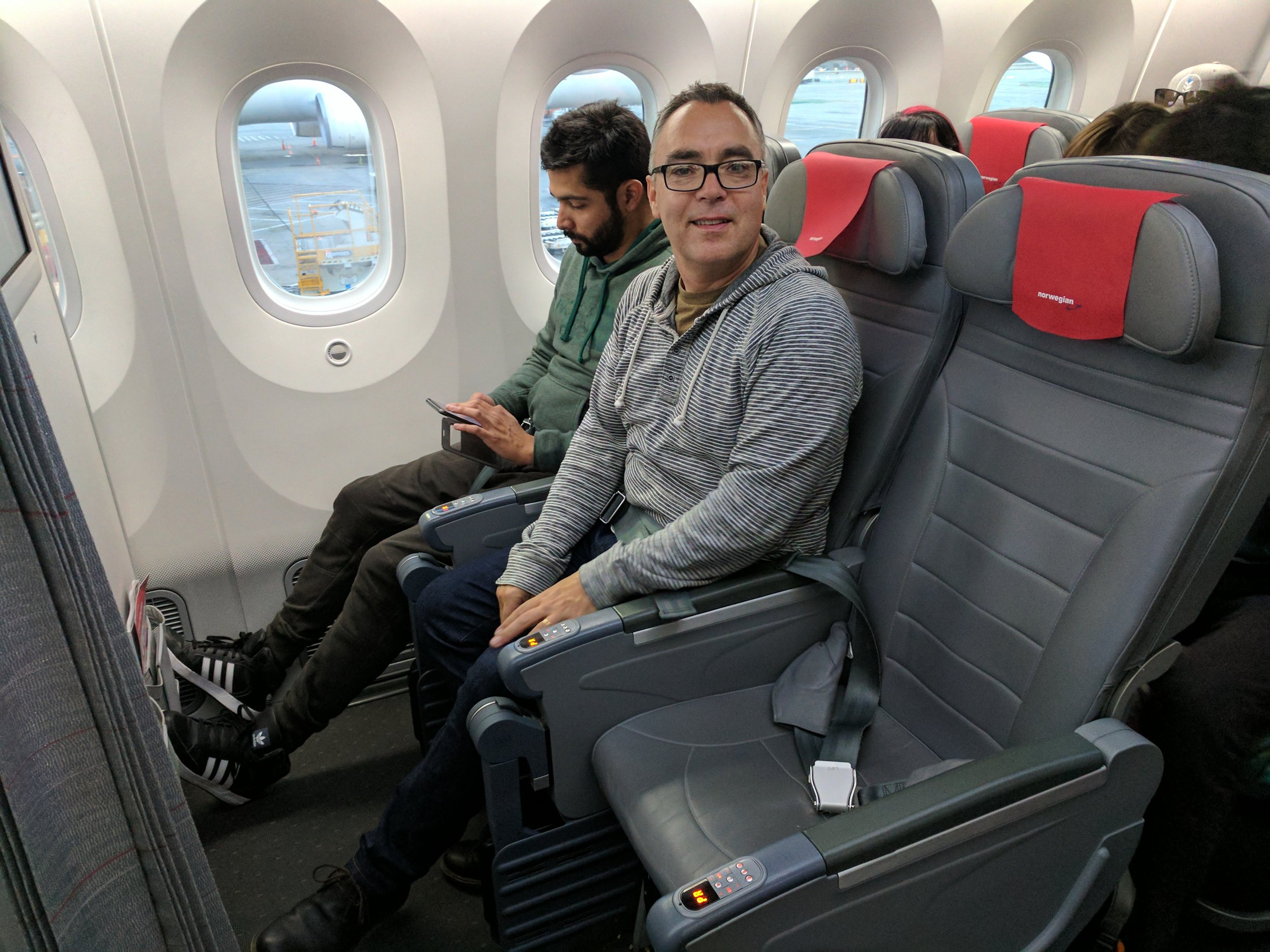 Comfy Seats, big windows, lots of head room - all characteristics of the Dreamliner