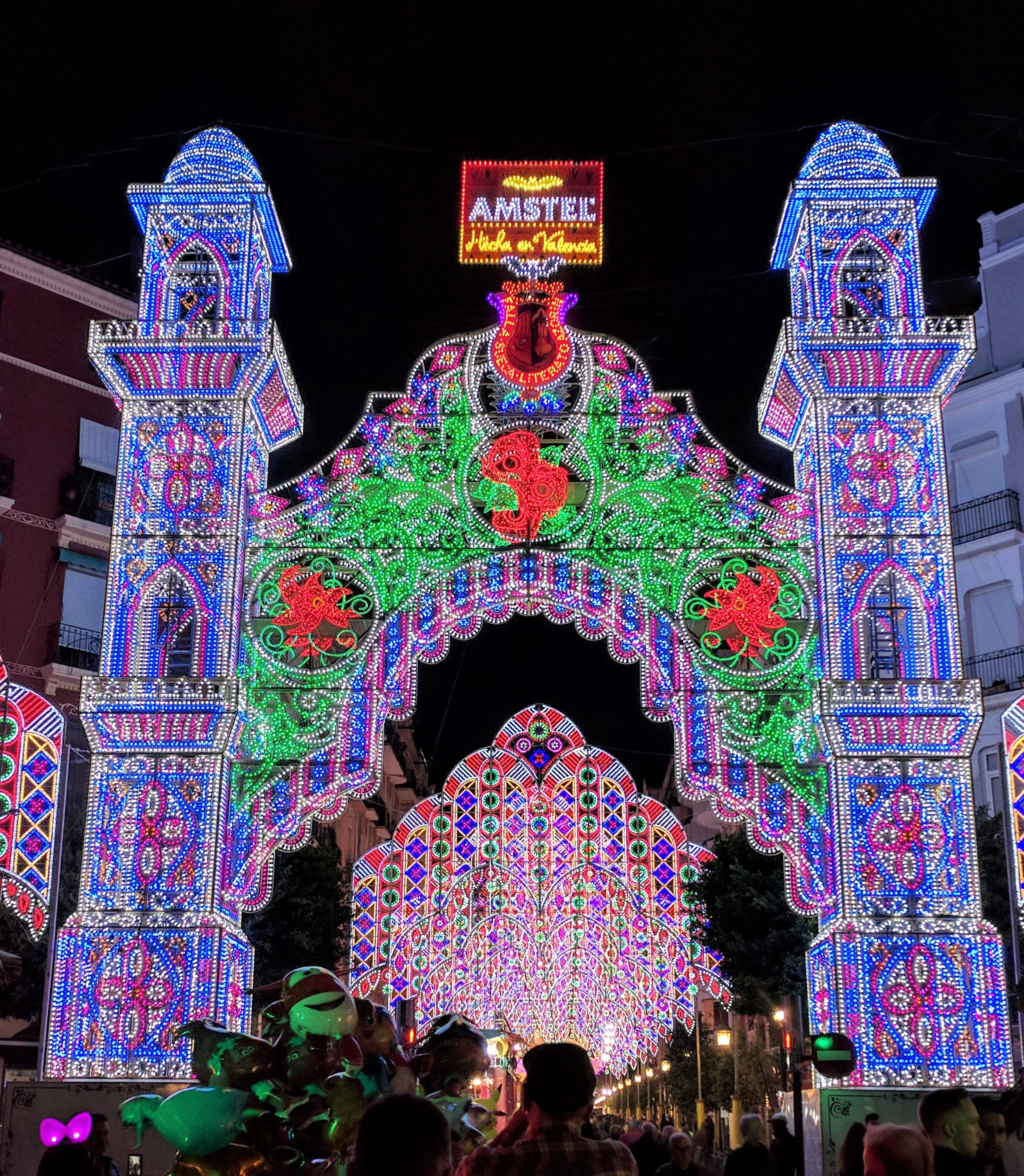 The light displays were all over the city. This was one of the most spectacular.