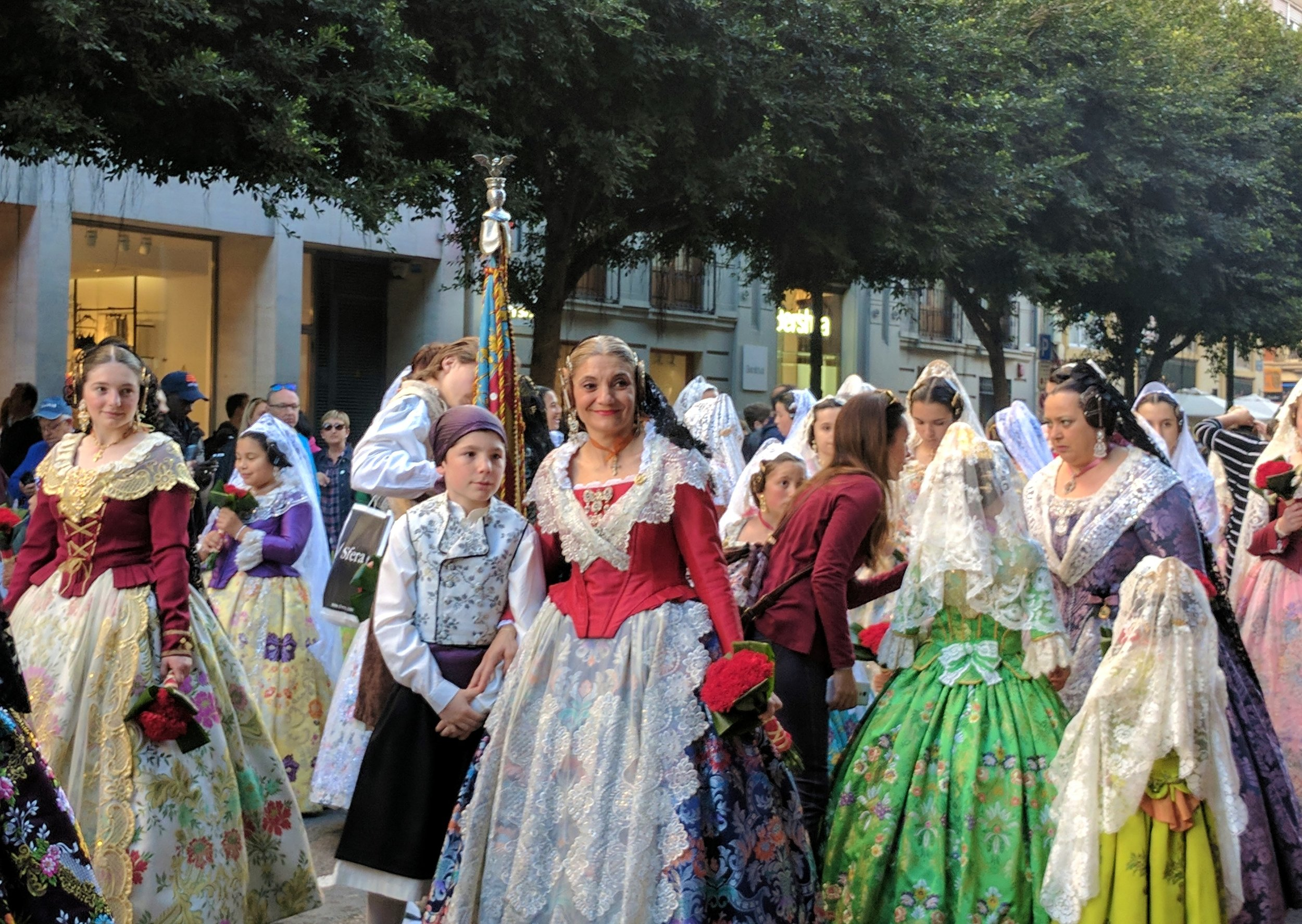 Beautiful traditional dress for the Ofrenda parade