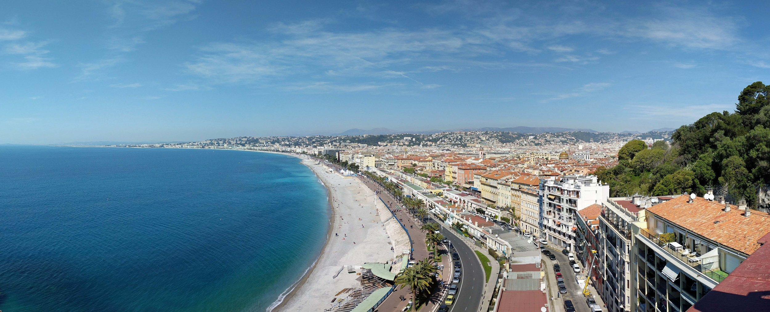 The amazing coastline in Nice