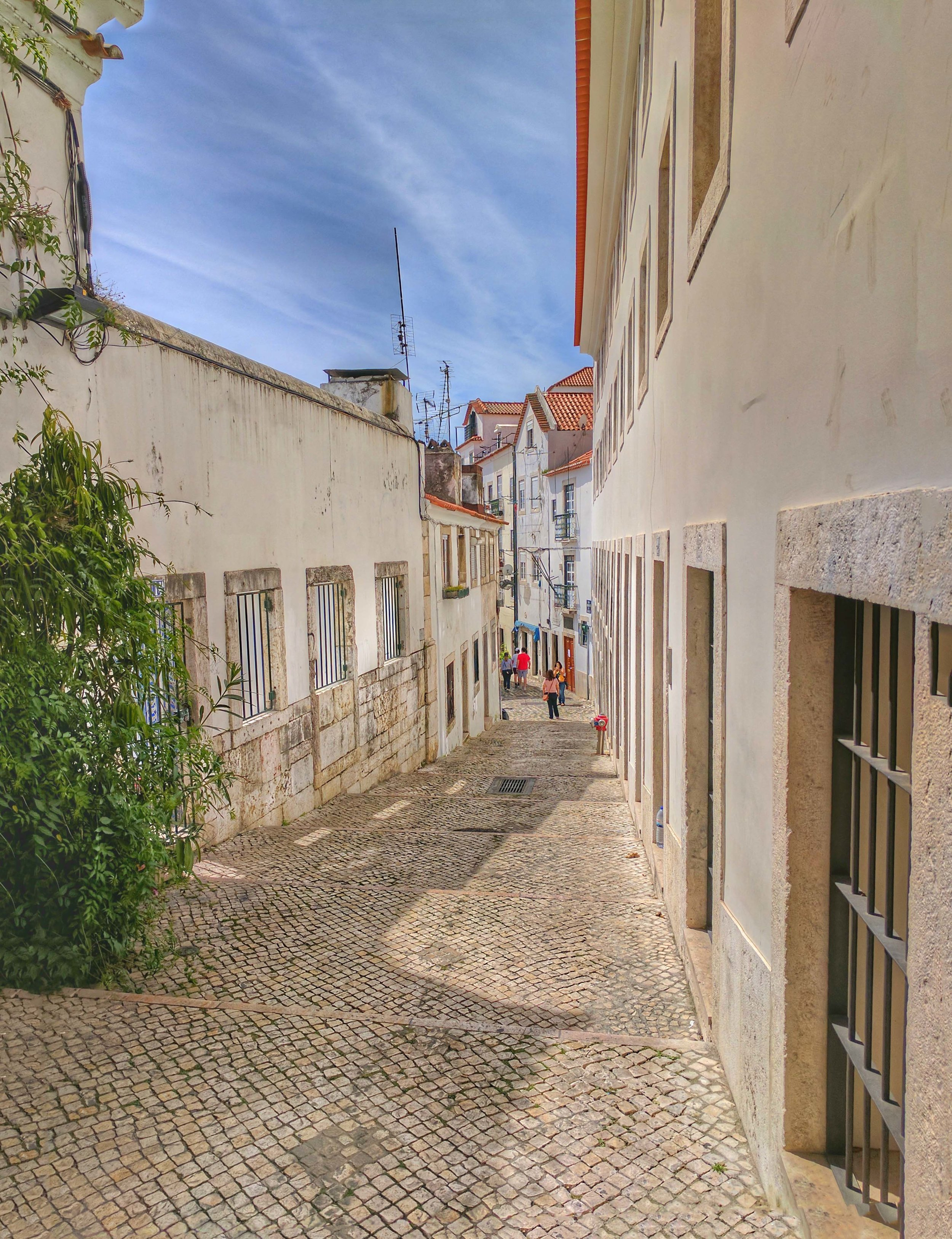 Streets of Alfama, old town Lisbon