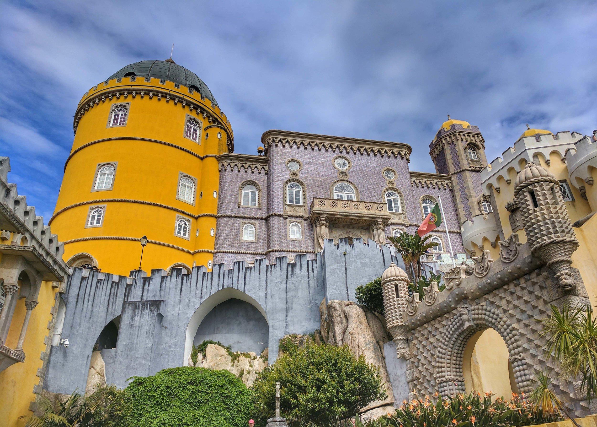Beautiful exterior of Pena Palace