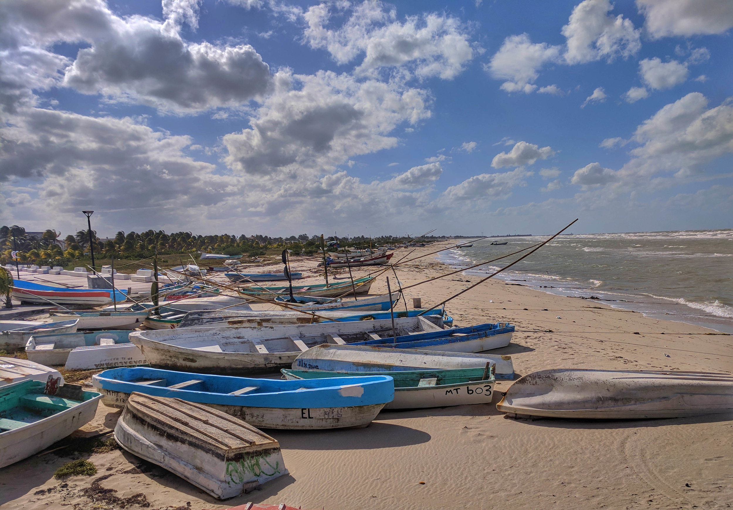 Boats on beach at Progresso.jpg