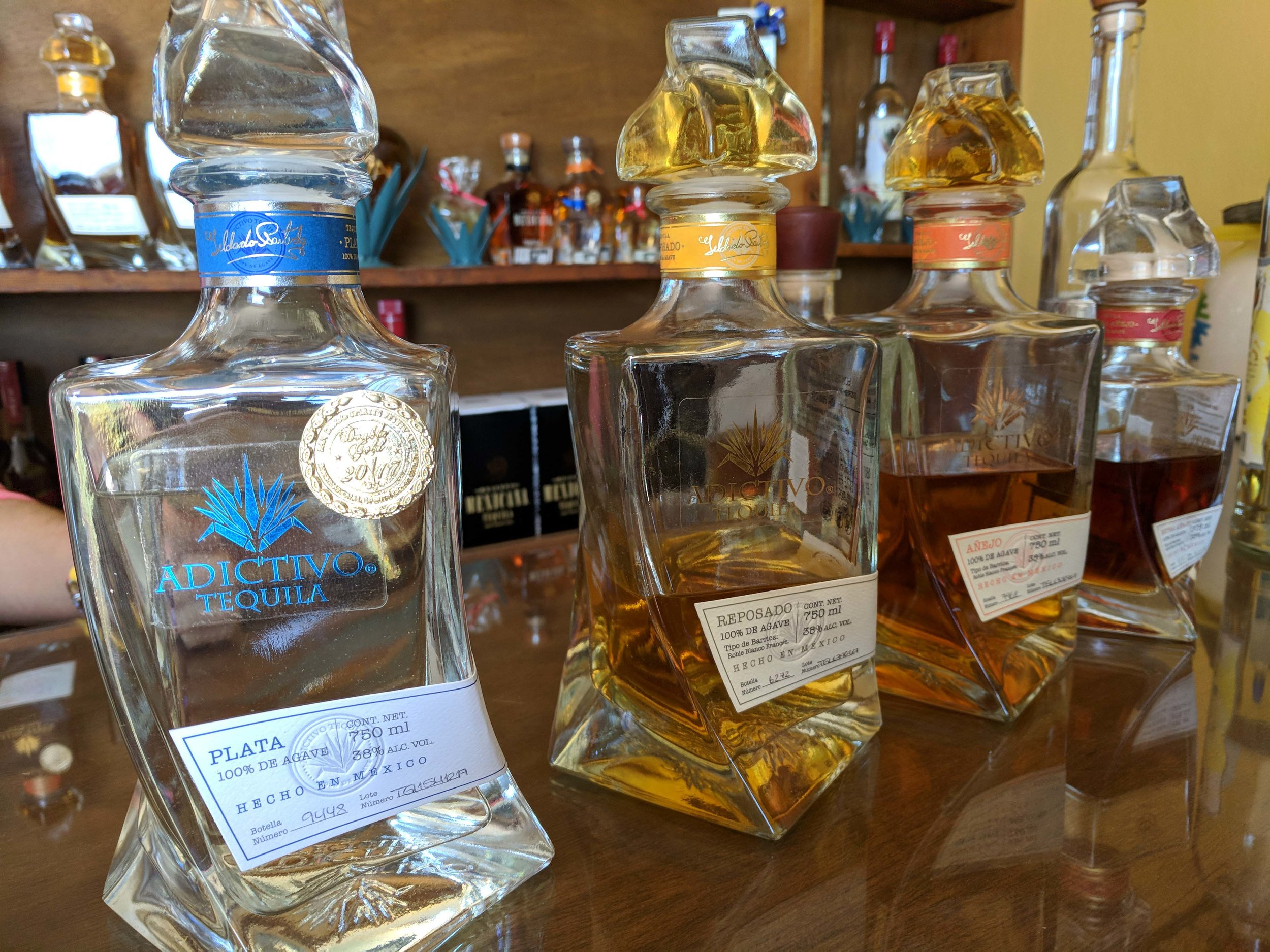 The sublime Adictivo. Our favorite tequila of the day