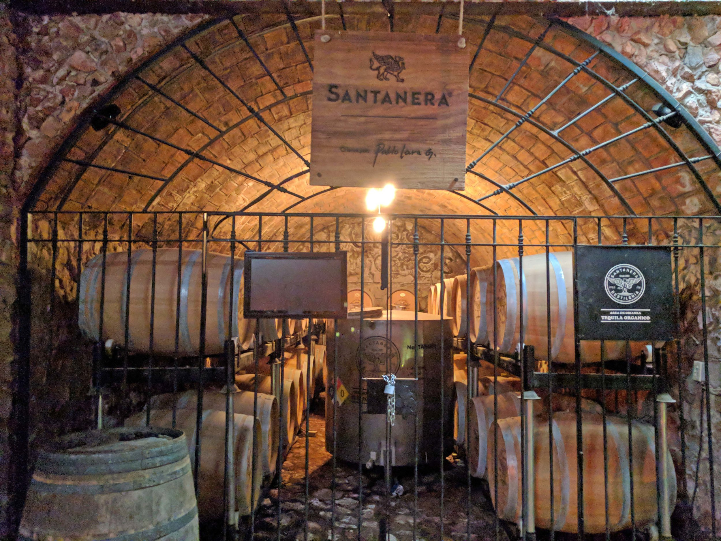 Tequila aging and bathed in classical music
