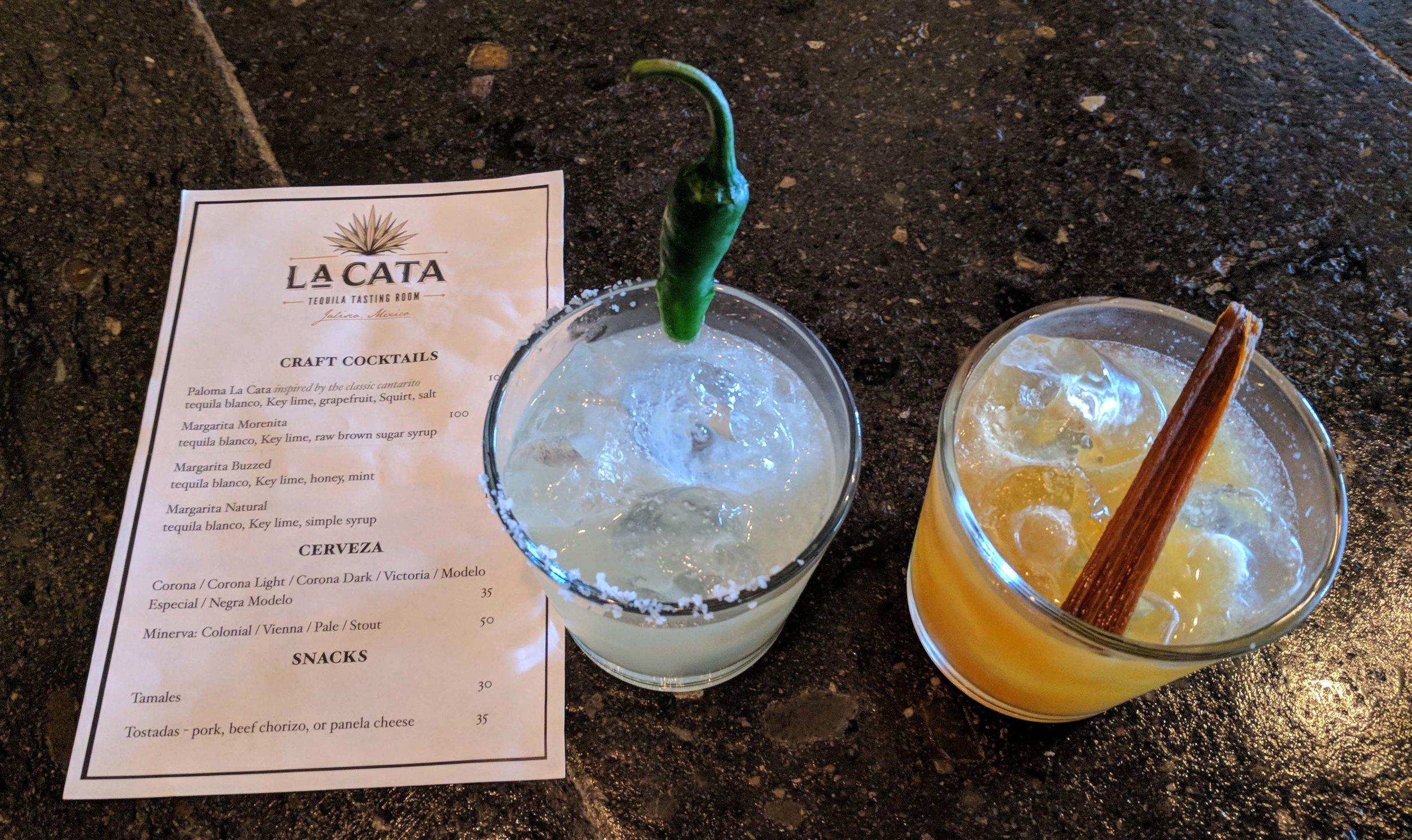 Tequila cocktails in La Cata