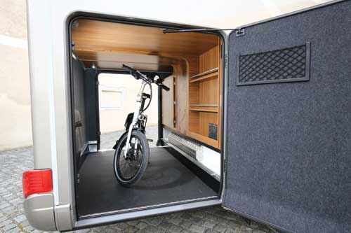 A large rear garage allows bicycle storage and a lot more