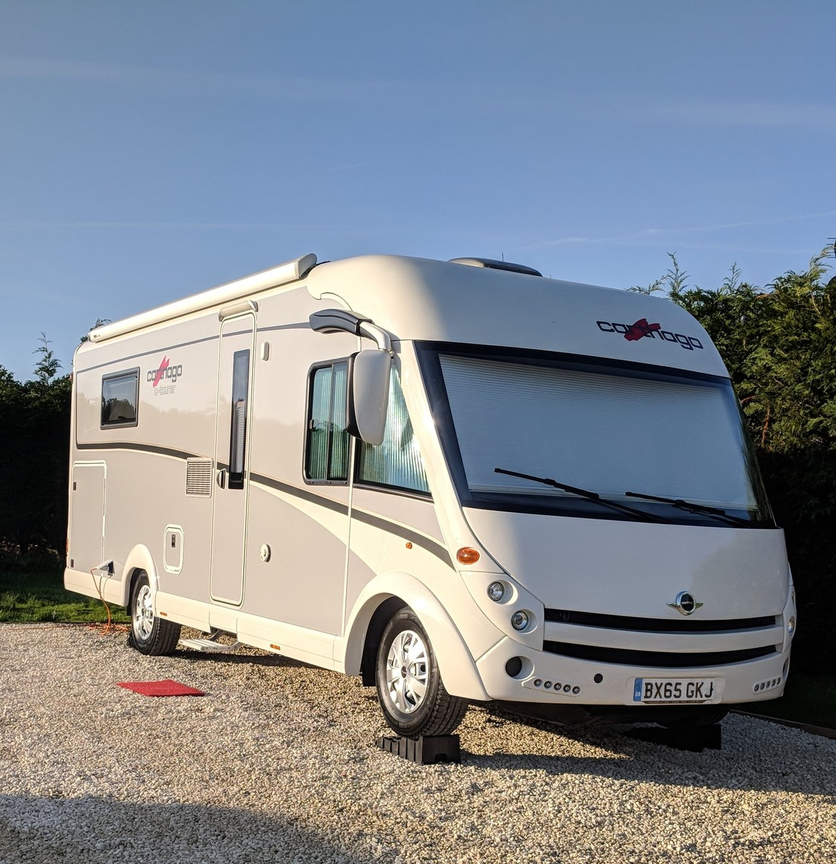 An A-Class or Integrated Motorhome