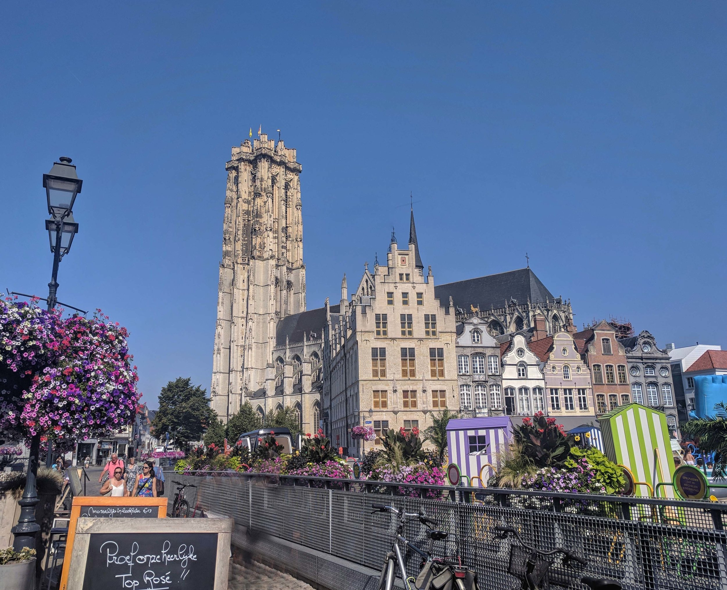 St Rumbold's Tower looming over Mechelen