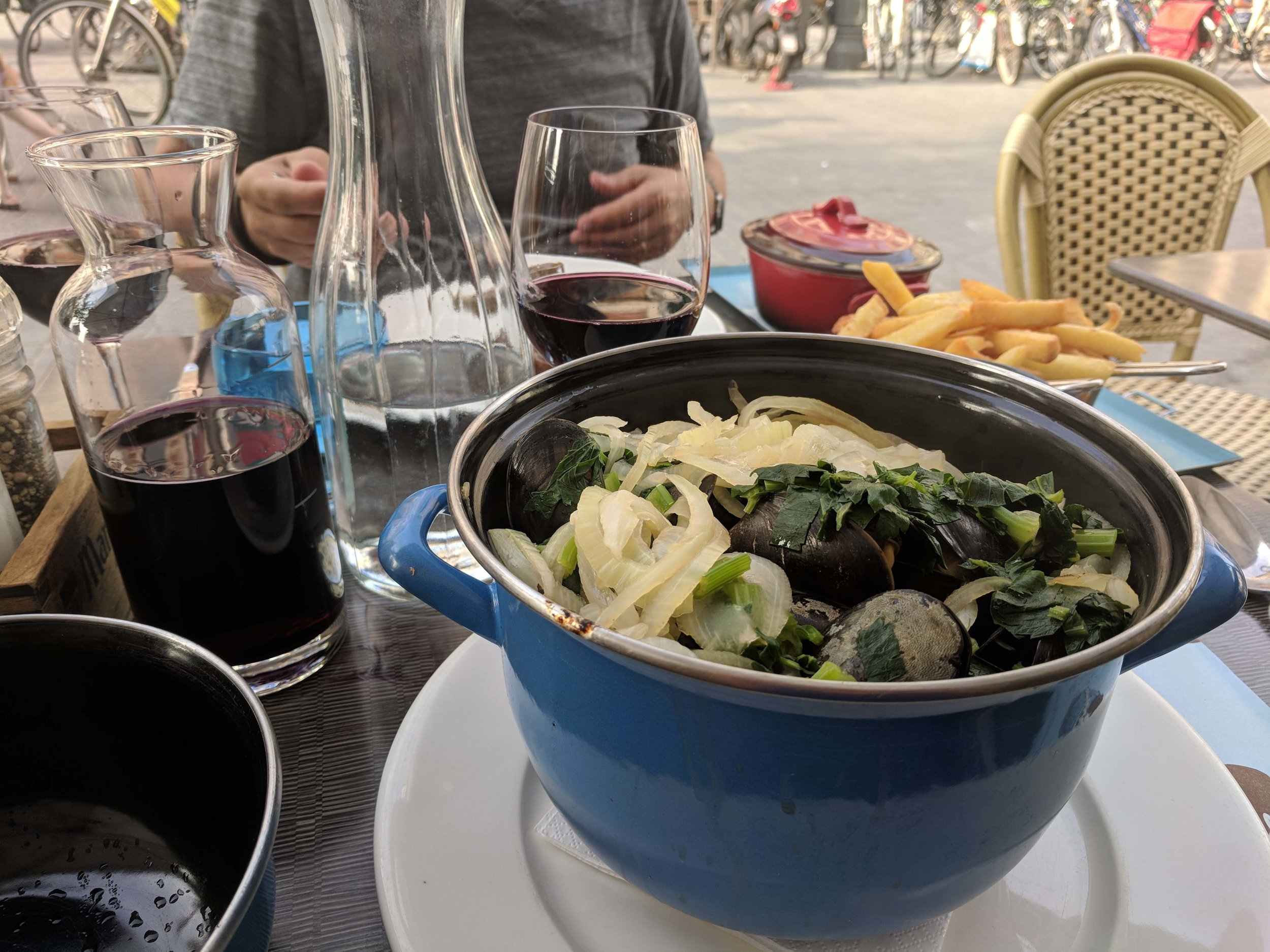 Finally my Moules Frites