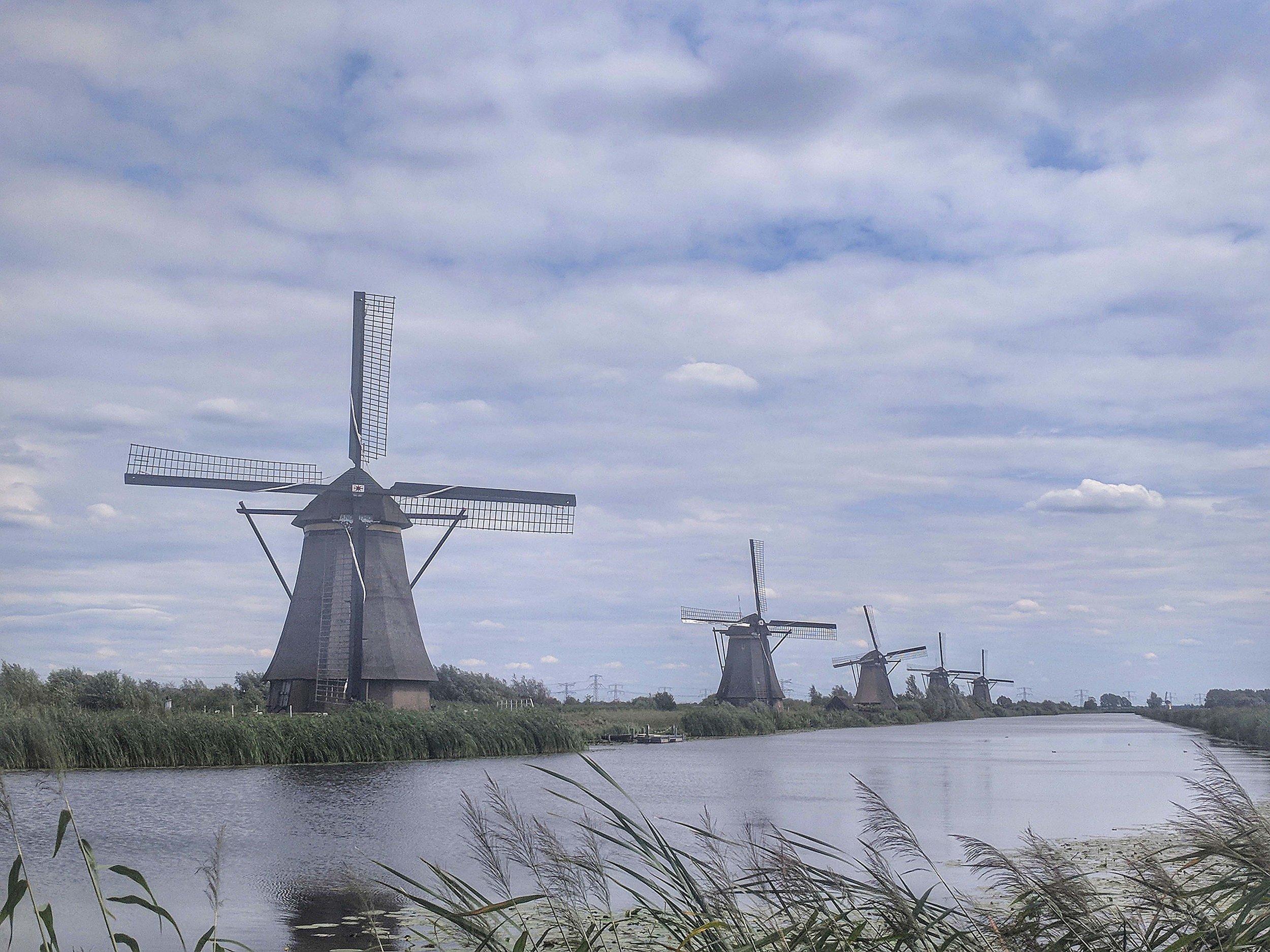 The pretty windmills at Kinderdijk
