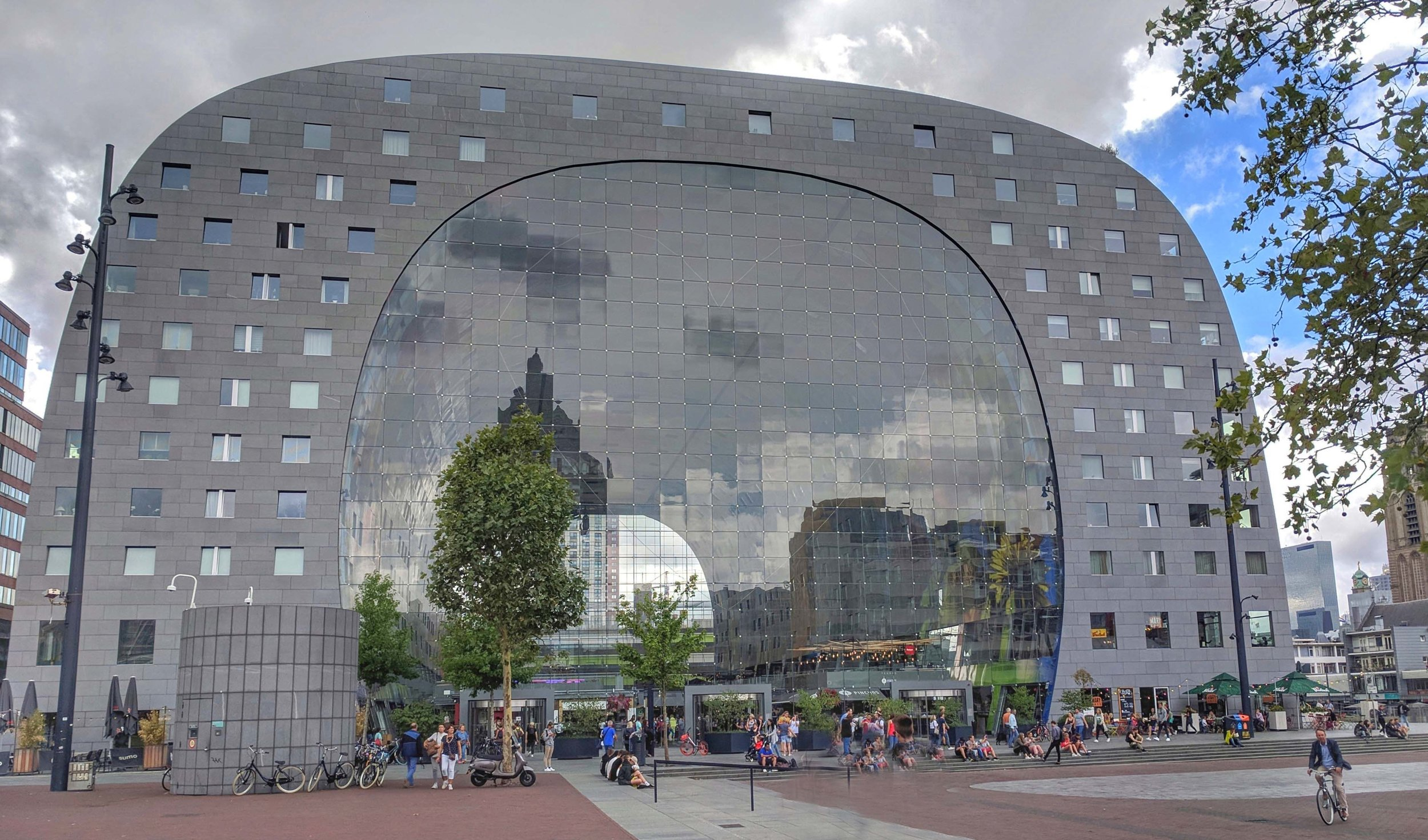 Outside of the Markthal in Rotterdam